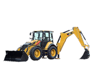 Caterpillar 444F2 backhoe loader
