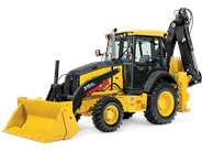 John Deere 315SL backhoe loader