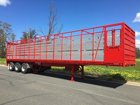 freightmaster st3 45' flat top semi trailer with removable stock crate 432939