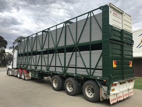 byrne 2 deck cattle trailer 644623