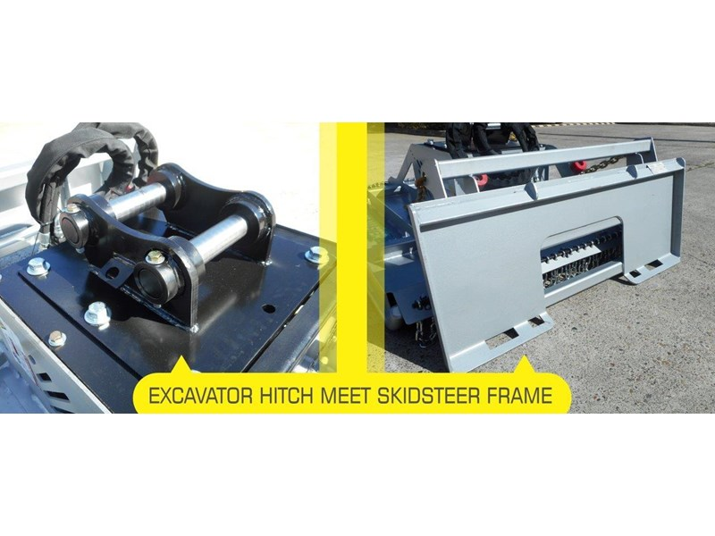 rhino 4ft / 1280mm slasher. brush cutter attachment excavator / skid steer pick up [attslash] excavator hitch / skid steer universal frame - dual mount 236251 003