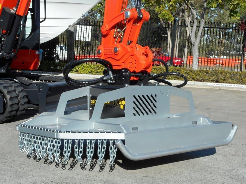 rhino slasher. brush cutter attachment 4ft / 1280mm excavator mount excavator pick up [attslash] 236259 009