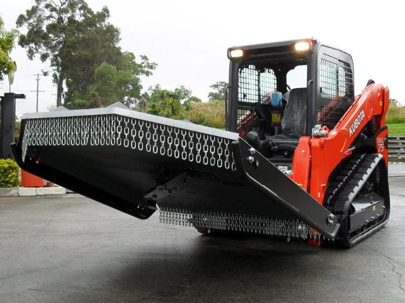 rhino 1830mm skid steer slasher attachment + kubota svl75 track loader combo [attslash] [machkubo] 236333 002