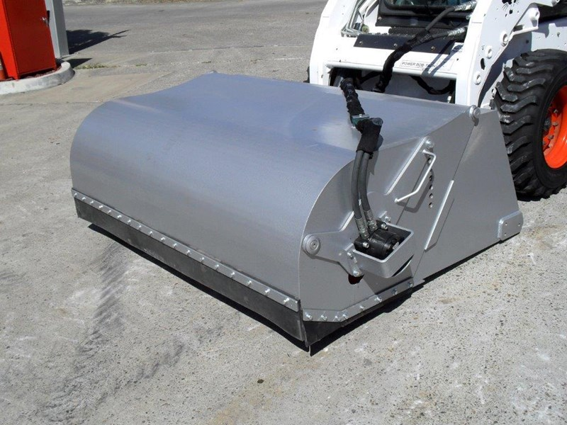 rhino heavy duty - 1800 mm enclosed bucket broom for skid steer loaders [attbroom] 236557 001