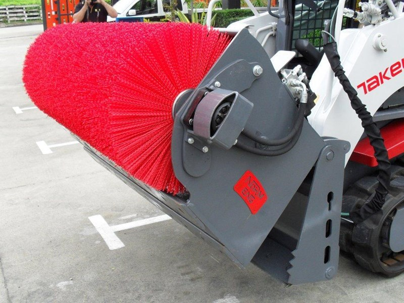 rhino heavy duty - 1800mm open mouth sweeper. 4 in 1 bucket broom suit bobcat skid steer loaders 236538 002