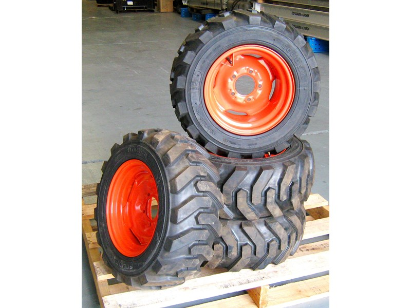 rhino 8.5-12 spare tyre assemble fit bobcat model 463 skid steer loaders [atttyre] [work ready]   [ 6 ply tubeless ] 236946 003