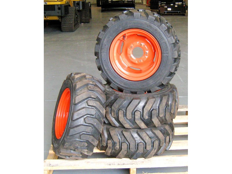 rhino 8.5-12 spare tyre assemble fit bobcat model 463 skid steer loaders [atttyre] [work ready]   [ 6 ply tubeless ] 236946 001