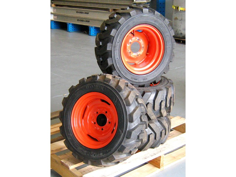 rhino spare tyre assemble 8.5-12 fit bobcat model 463 skid steer loaders [atttyre] [work ready] [ 6 ply tubeless ] 236950 006