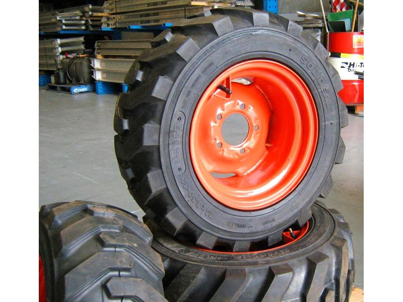 rhino 8.5-12 spare tyre assemble fit bobcat model 463 skid steer loaders [atttyre] [work ready]   [ 6 ply tubeless ] 236946 006