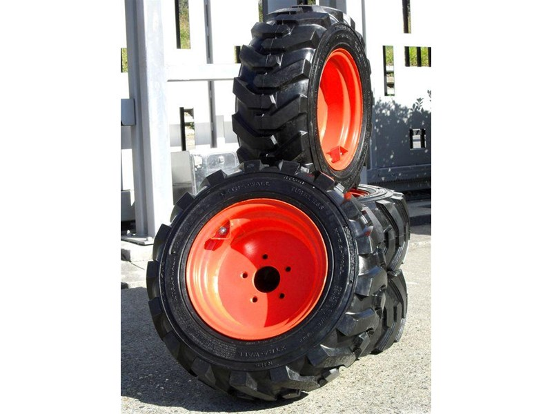 rhino rhino spare tyre assemble 8.5-12 fit bobcat model s70 skid steer loaders [atttyre] [work ready] [ 6 ply tubeless ] 237125 002