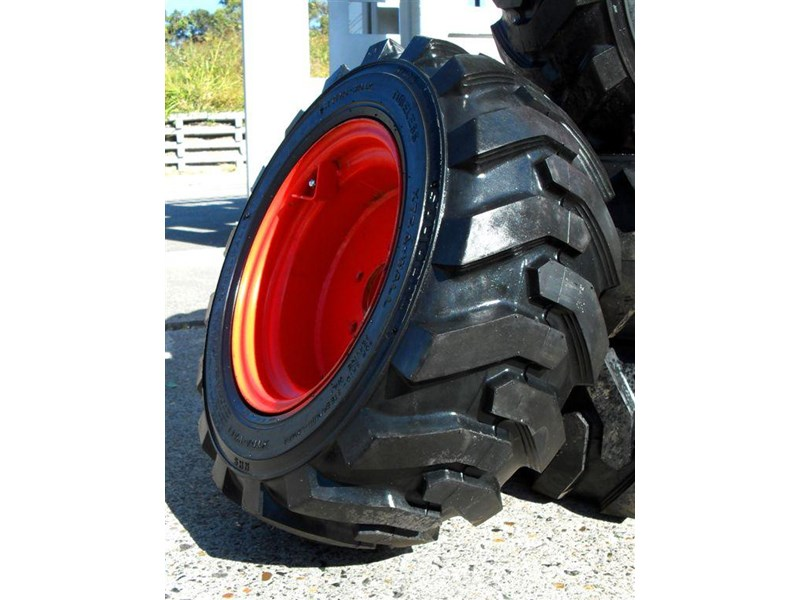 rhino spare tyre assemble - 8.5-12 fit bobcat model s70 skid steer loaders [atttyre] [work ready]   [ 6 ply tubeless ] 237126 003