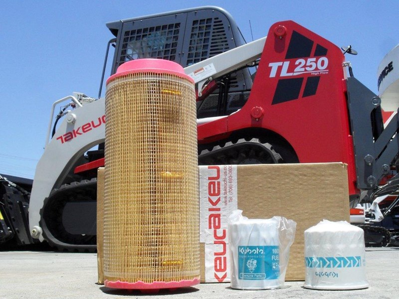 takeuchi tl250 track loaders 250hrs filter kit [genuine] [attpart] [machtake] 237183 002