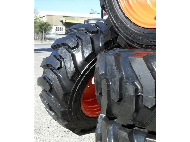 rhino spare tyre assemble - 8.5-12 fit bobcat model s70 skid steer loaders [atttyre] [work ready]   [ 6 ply tubeless ] 237126 005