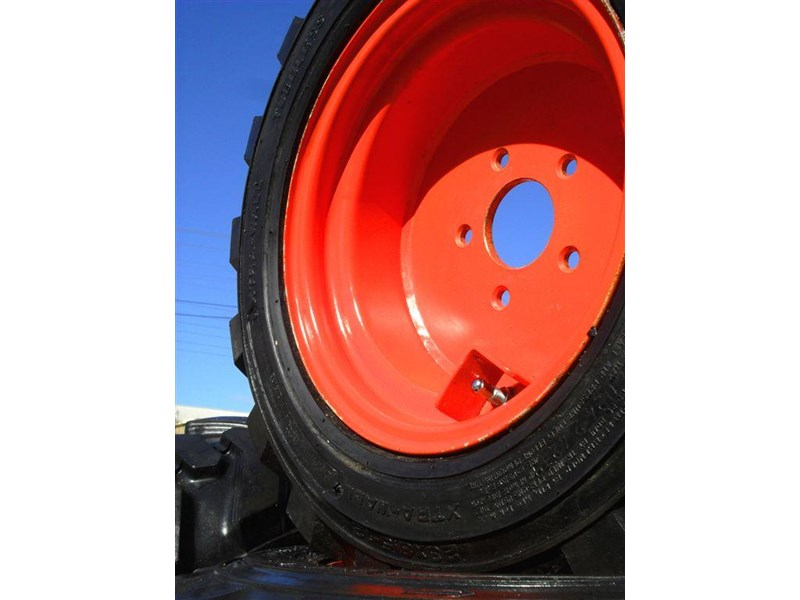 rhino spare tyre assemble - 8.5-12 fit bobcat model s70 skid steer loaders [atttyre] [work ready]   [ 6 ply tubeless ] 237126 007