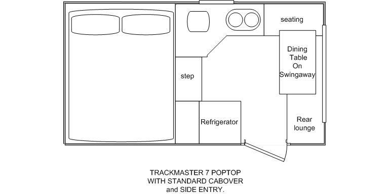 Northstar Trackmaster 7 Side Door Poptop Camper Layout