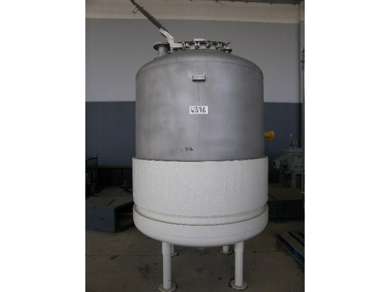 pressure vessel - stainless steel and jacketed 3,000lt 80076 001