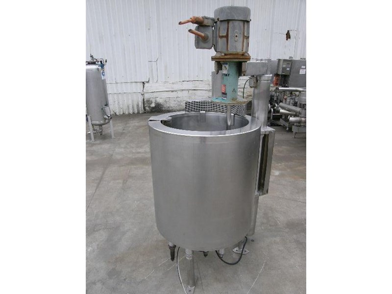 stainless steel jacketed mixing tank 120lt 80056 002