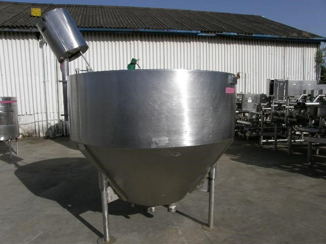 stainless steel jacketed mixing tank 2,000lt 80062 002