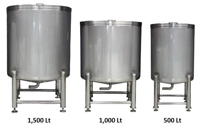 stainless steel storage/mixing tanks 1,500lt 106459 004