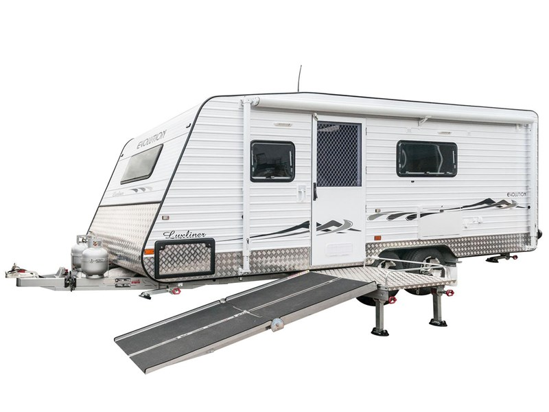evolution wheel chair accessible caravan - luxliner 21' 121905 001