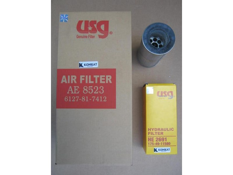 komatsu filters to suit all models 164396 001