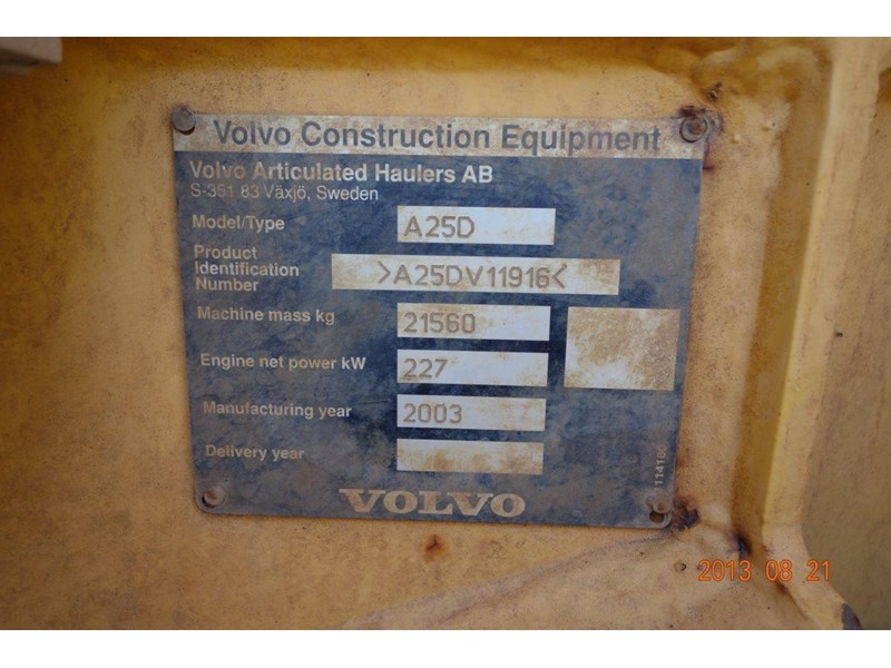 volvo a25d 188992 008