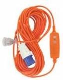 15mtr camping power cord with rcd safety switch 195902 001