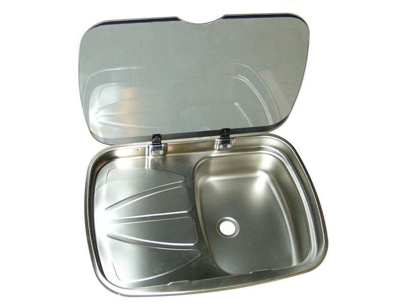 sink and drainer with glass lid 199636 001