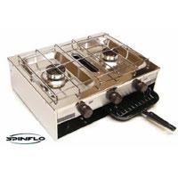 spinflo portable 2 hob cooker with grill 199568 001