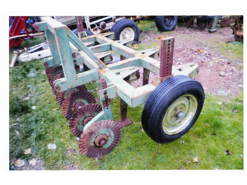 wallace 7 tyne subsoiling aerator with coulters 3pl 218320 001