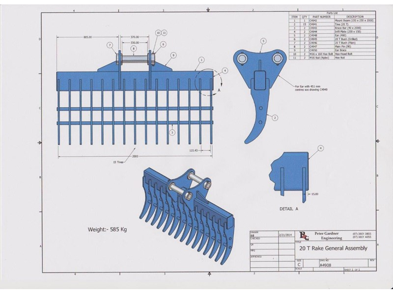 peter gardner engineering stick rake 218923 009