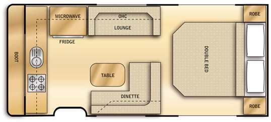 Goldstream RV 16' - Floor Plan