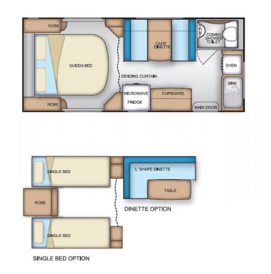 Coromal Element B551s Floor Plan