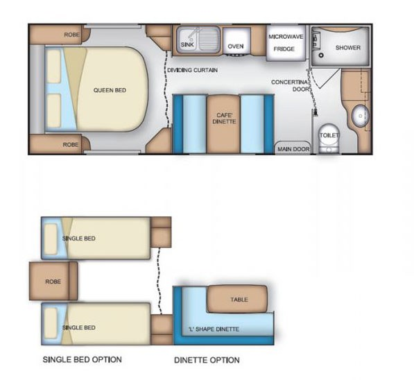 Coromal Element B612s Floor Plan