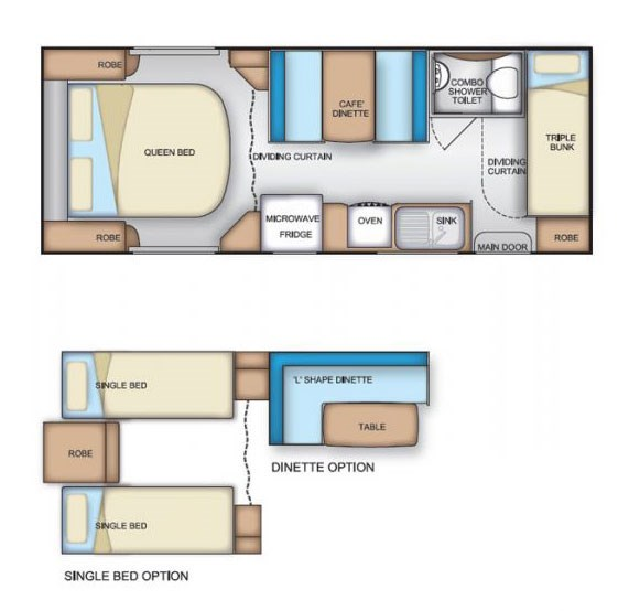 Coromal Element B626s Floor Plan