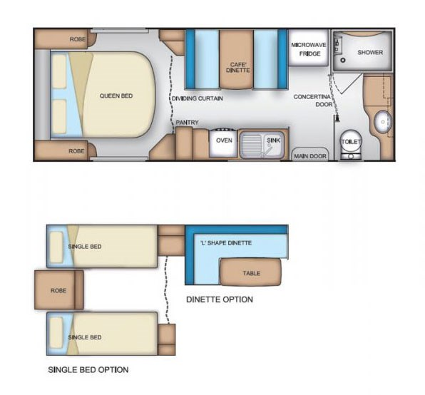 Coromal Element B632s Floor Plan