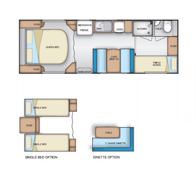 Coromal Element B696s Floor Plan