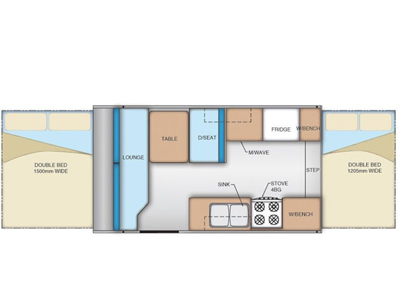 Coromal Family F400 Floor Plan