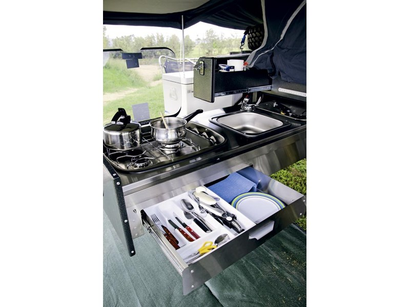 Rhinomax Campers Outback Warrior RX Kitchen
