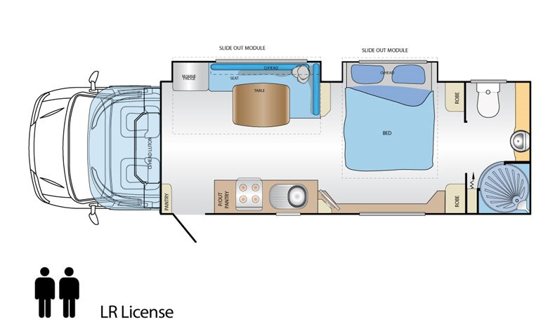 Jayco Optimum Fiat Ducato X250 Floor Plan