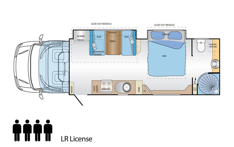 Jayco Optimum Iveco Daily Floor Plan