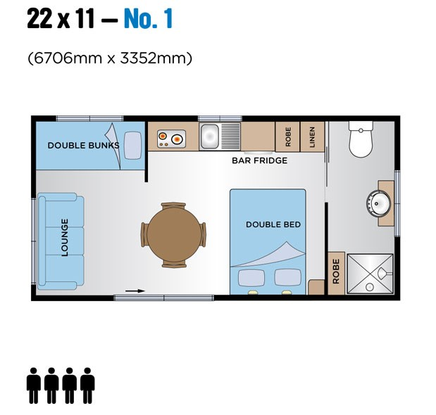 Jayco Leisure Homes 22x11 Floor Plan