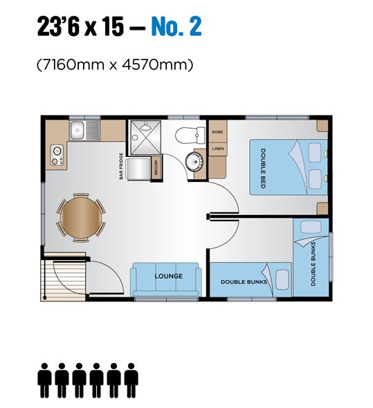 "Jayco Leisure Homes 23'6"" x 15 Floor Plan 2"