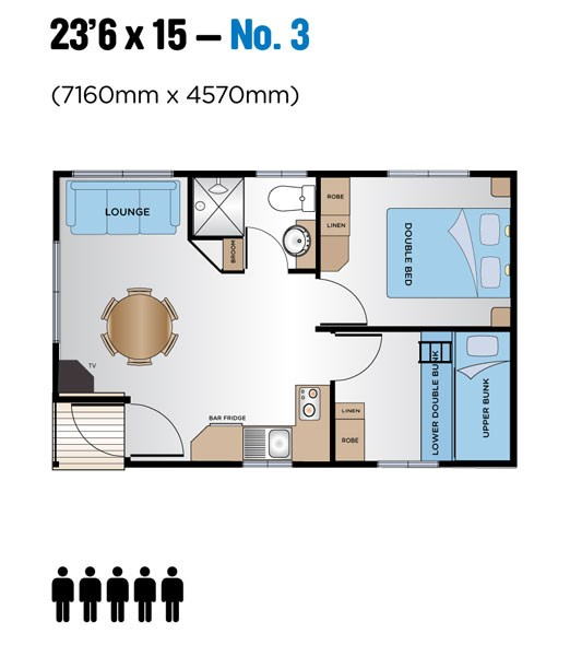 "Jayco Leisure Homes 23'6"" x 15 Floor Plan 3"