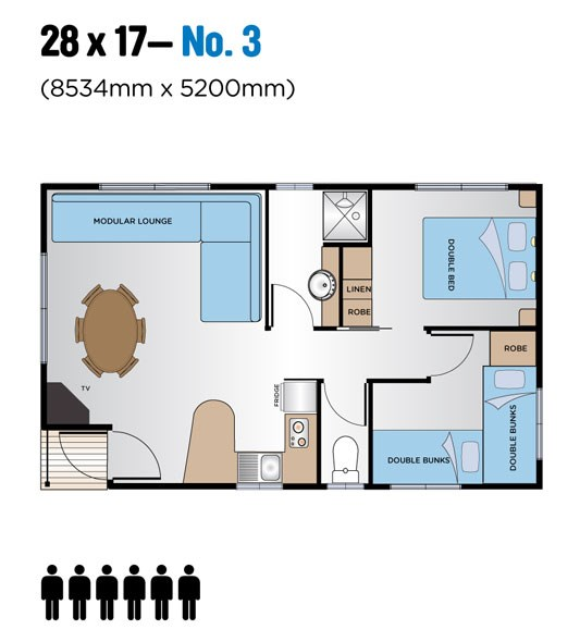 Jayco Leisure Homes 28 x 17 Floor Plan
