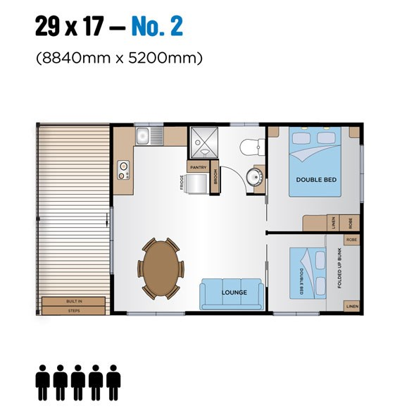 Jayco Leisure Homes 29x17 Floor Plan
