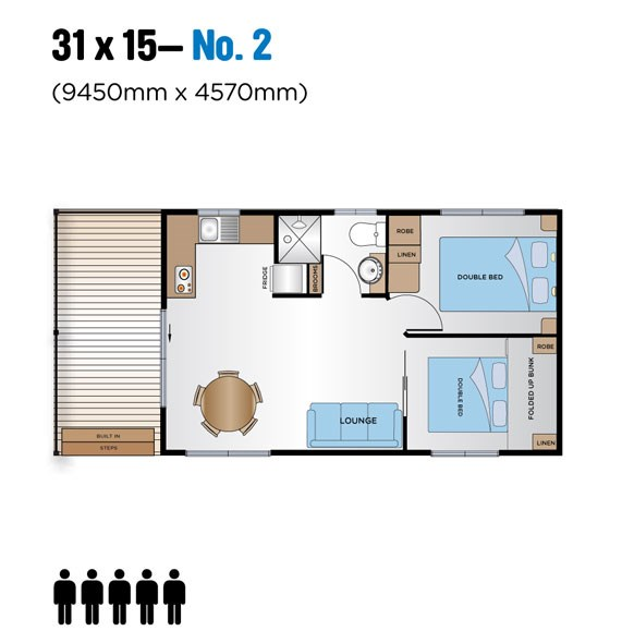 Jayco Leisure Homes 31x15 Floor Plan 1