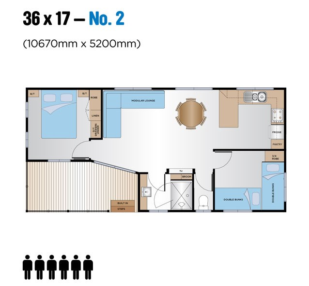 Jayco Leisure Homes 36x17 Floor Plan 1