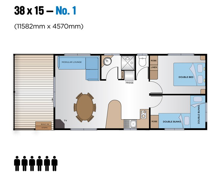 Jayco Leisure Homes 38x15 Floor Plan