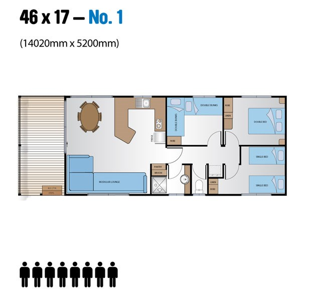 Jayco Leisure Homes 46x17 Floor Plan